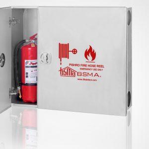 q 31 300x300 - جعبه آتش نشانی دو کابین استیل نقره ای مات خش دار پیشرو