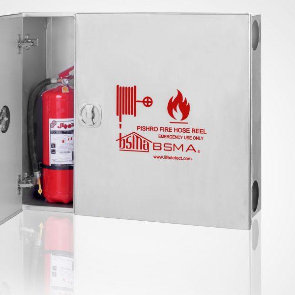 q 31 600x600 - جعبه آتش نشانی دو کابین استیل نقره ای مات خش دار پیشرو