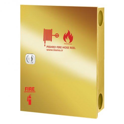 جعبه آتش نشانی درب استیل طلایی دو قلو تک درب پیشرو