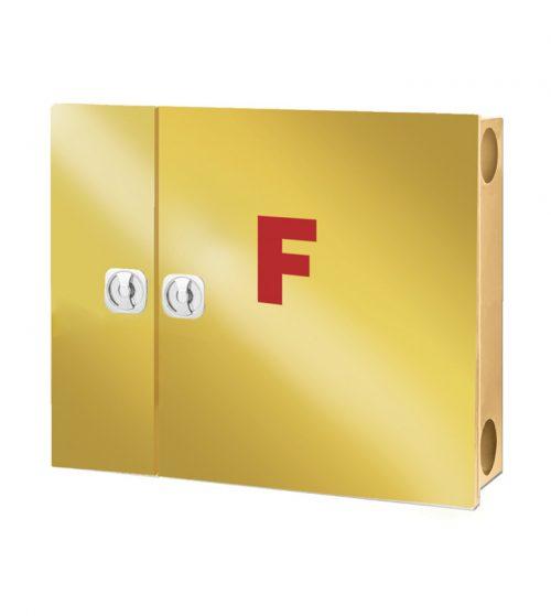 جعبه آتش نشانی درب استیل طلایی دو کابین پیشرو
